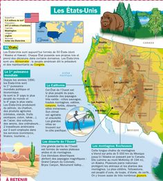 Fiche exposés : Les Etats-Unis French Poems, French Phrases, French Lessons, English Lessons, Learn French, Learn English, Flags Europe, Reading Practice, French Classroom