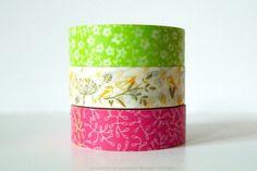 Chugoku Bright Floral, Bird, Heart Washi Tape - Floral - Washi Tape (Other)