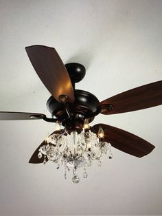 Mess of the day ikea hack ceiling fan chandelier glam up my shop julianne bronze fandelier at horchow where youll find new lower shipping on hundreds of home furnishings and gifts aloadofball Image collections