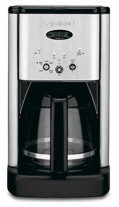 Cuisinart Stainless Steel Drip Coffee Maker at Lowe's. Start your mornings off right with this programmable coffee maker from Cuisinart. The capacity means there is enough of your favorite coffee to go Best Drip Coffee Maker, Stainless Steel Coffee Maker, Coffee Maker Reviews, Cafetiere, Thing 1, Central, Great Coffee, Brushed Metal, Espresso Machine