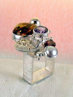 Gregory Pyra Piro #Schmuckkunst Silber und Gold mit #Edelsteinen Unikat #Ring…