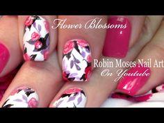 Spring Flower Nail Art #nailart #nails #naildesign #design #tutorial #flowernails #pinknails  #diy #howto @polishedperfect #hotdate