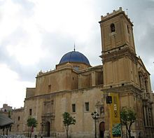 Basílica de Santa María, en el centro de la ciudad.