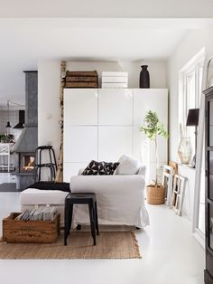 Made In Persbo: I bokskogen Tiny Spaces, Lounge, Scandinavian Home, Interior Exterior, Living Room Inspiration, Home Decor Furniture, Beautiful Interiors, Interiores Design, Home Living Room