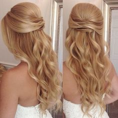 Wedding Hair Down Only a handful of the many weddings I work every year do I get to stay until after the ceremony for touch-ups and a hair change. Today is one of those weddings and I couldn't have asked for a better bridal party to hang out with! Homecoming Hairstyles, Party Hairstyles, Bride Hairstyles, Down Hairstyles, Bridesmaid Hairstyles, Hairstyle Ideas, Wedding Hair Down, Wedding Hair And Makeup, Hair Makeup
