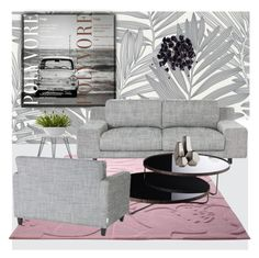 """Pretty Pink Rug"" by frenchfriesblackmg ❤ liked on Polyvore featuring interior, interiors, interior design, home, home decor, interior decorating, ESPRIT, Safavieh, Nearly Natural and Universal Lighting and Decor"