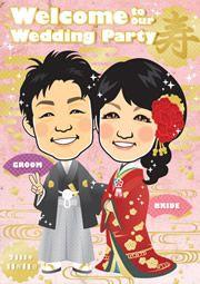 イラストレーターの紹介)^o^(   http://wedding.mypic.jp/data/0277/index.html #ウェルカムボード #似顔絵