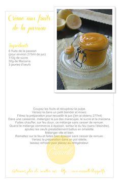 Coco Cannelle: Passion curd (crème aux fruits de la passion) sans beurre