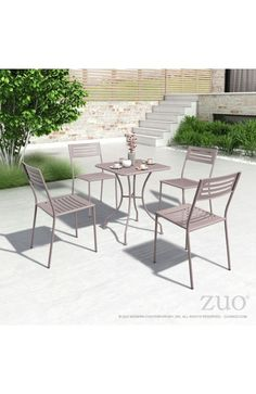 Zuo Modern Oz Dining Square Table Taupe - 703605