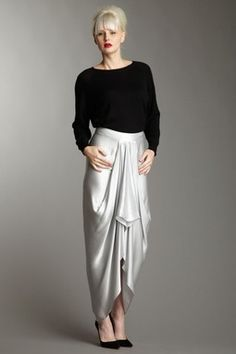L.A.M.B. Hi Lo Draped Skirt