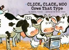Using cows to teach the persuasive writing structure.  Hey, crazier things have happened, folks!   Mentor text: Click, Clack, Moo- Cows That Type
