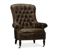 Radcliffe Tufted Leather Armchair #potterybarn