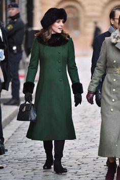 Kate Middleton Kicks Off Her Sweden Tour in Emerald Green