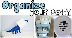 Organize Your Toilet Love the painted Dinosaur with spare toilet roll.