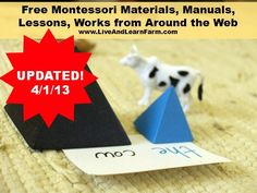 Free Montessori Materials from around the web.  As I update this, I will change the big red badge to the new updated date.  I added a huge section today!  I'm now trying to add more details about what is free at each site so you can just search here if you are looking for a specific work and don't where to find it.  This is going to be such a wonderful resource for all of us!  AND if you know of other sites that I don't have listed, please let me know!  Thanks!!!