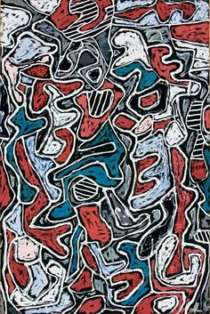 1963 Jean Dubuffet (French 1901~1985), best known for founding the art movement 'Art Brut'