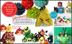 Haha - Clive would love this Angry Birds party!