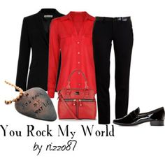 A fashion look from May 2014 featuring long sleeve cotton tops, tailored blazer and tailored fit pants. Browse and shop related looks. Michael Jackson Outfits, Michael Jackson Merchandise, Michael Jackson Youtube, You Rock My World, 3d T Shirts, Inspired Outfits, Looking For Women, 50th Birthday, Birthday Ideas