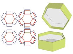 Simple Packaging, Packaging Design, Tool Design, 3d Design, Hexagon Box, Free Boxes, Cover Template, Pink Design, Covered Boxes