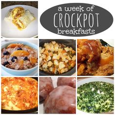 A Week of Crockpot Breakfasts #food #crockpot