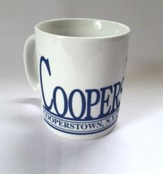 Cooperstown Mug Home of Baseball NY Pitcher Sports Coffee Cup 10 oz #BaseballPitcher
