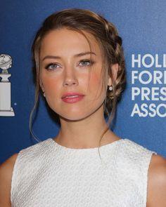 Le chignon avec tresse de côté d'Amber Heard