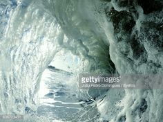 Stock-Foto : Close-Up Of Curled Up Sea Waves