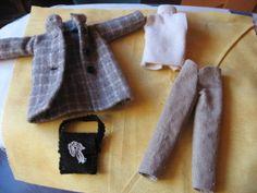 manteau, pantalon, pull et sac poupée barbie - paminatelier.com - les tutos de Pamina