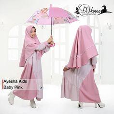 Ayesha kids by D'Hanna Dress Anak, Hijab Fashion, Muslim, Baby Kids, Pink, Dresses, Instagram, Vestidos, Islam