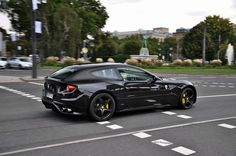 All black Ferrari FF