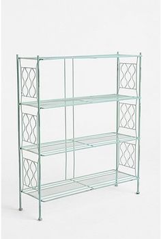 gorgeous wire bookcase by Urban outfitters (Brimfield bookcase) $79 Could be sweet in my office, bathroom, or bedroom...