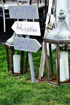 Wedding Re-Cap: The Details. Reception sign.