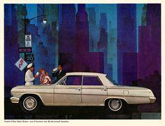En hora pico. | Anuncio con el lechero en favor de Impala, Chevrolet, 1962. Asumo que por asociación de color.
