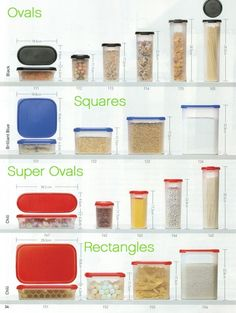 Tupperware: Modular Mates Size Chart Organize, space saver, food protector, money saver!