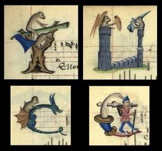 Monkeys in castles and lettrines of whimsy