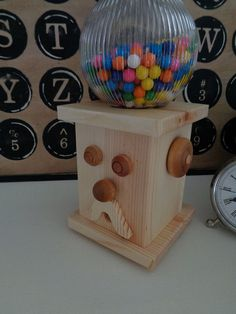 LOVE this gumball machine!!! https://www.etsy.com/listing/199844798/wooden-gumball-machine