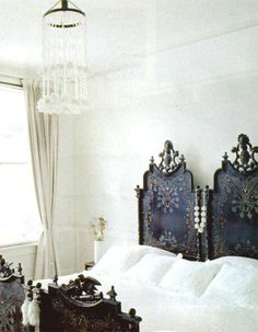 Ornate cama portuguesa, or Portuguese bed #bedroom #headboard