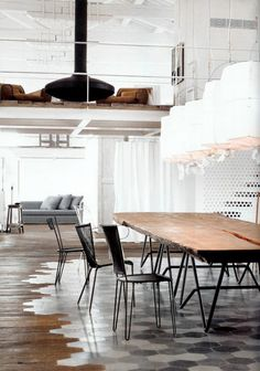 Wood and Tile Flooring - D, what do you think about the floors? Could you see something like this (maybe a different tile) in the kitchen, moving into wood in the living room? Just some designs floor design design interior
