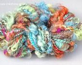 """Un effet """"décoiffé"""" pour cette laine filée au rouet"""