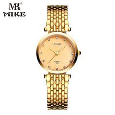 Mike woman watch Gold mens watch Lovers watch relojes mujer zegarek damski montre homme marque de luxe horloges vrouwen hodinky #Affiliate