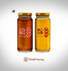 Labels and jar for a honey.