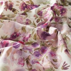 Spring Trend: Painterly Florals: Fancy Flower fabric by Chivasso