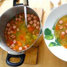 Schnelle Gemüsesuppe mit Frankfurter Würstchen from Hessen region in Germany $9