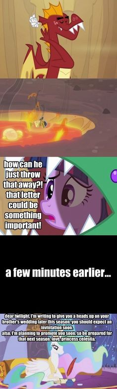 Ha ha! They should have totally done that! A random flashback where Celestia sends the letter and then Garble throws it away! Genius!