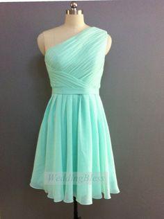Mint Bridesmaid Dress Mint Prom Dress Mint Short by WeddingBless, $88.00