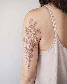 jess chen - flower tattoos - art & design