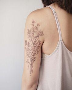 jess chen - flower tattoos - art & design