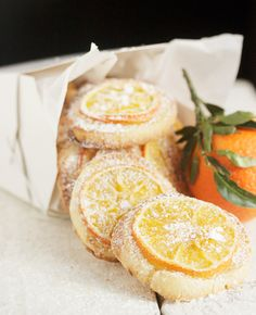 Tea Cookies, Almond Cookies, Cookies Et Biscuits, Orange Cookies, Cookie Recipes, Dessert Recipes, Orange Tea, Good Food, Yummy Food