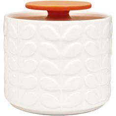 Orla Kiely Raised Stem Storage Jar - Orange ($36) ❤ liked on Polyvore featuring home, kitchen & dining, food storage containers, orla kiely and orla kiely storage jars