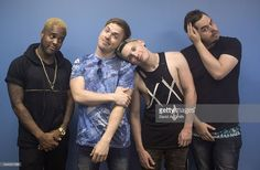 Dan Clermont, Cody Carson, Maxx Danziger, and Zach DeWall of Set It Off pose…